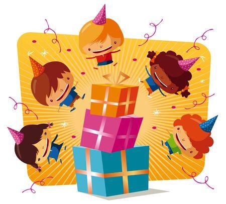 birthday party - gift Stock Vector - 9502412