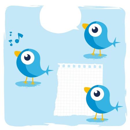 blue birds Stock Vector - 9502340