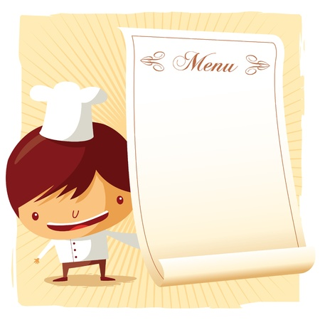 Chef - menu Vector
