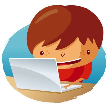 on laptop Stock Vector - 9502345