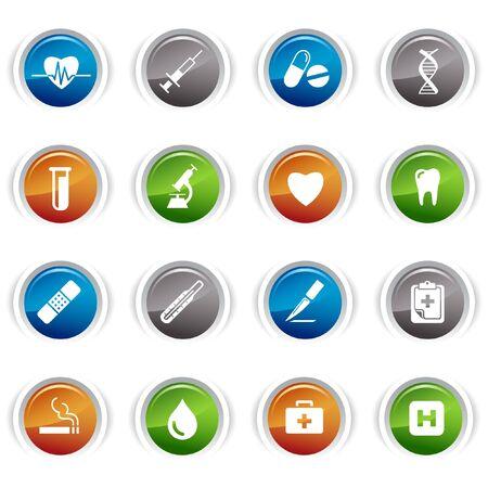 medical syringes: Pulsanti lucido - icone medicale