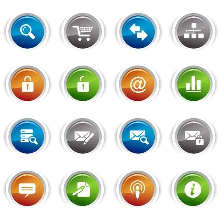 mail man: Botones brillante - iconos web cl�sico