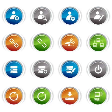 Glossy buttons - classic web icons Stock Vector - 9603527