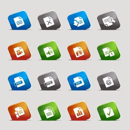 serie: Cut Squares - File format icons