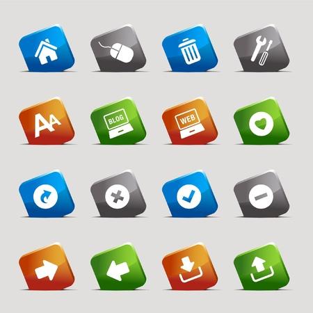 less: Cut Squares - classic web icons