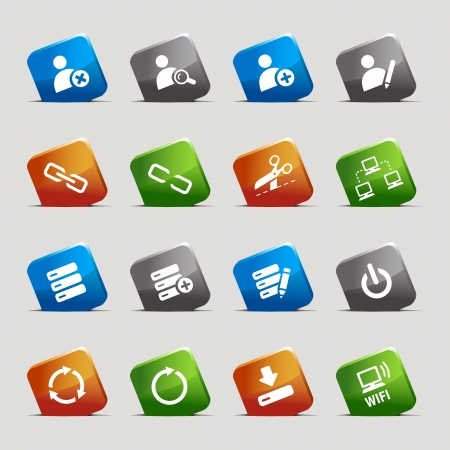 Cut Squares - classic web icons Vector