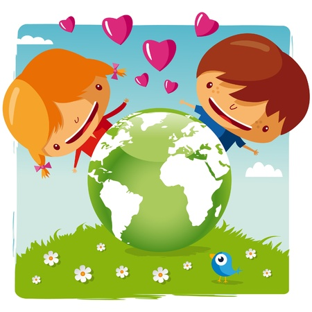 love our planet Stock Vector - 9701685
