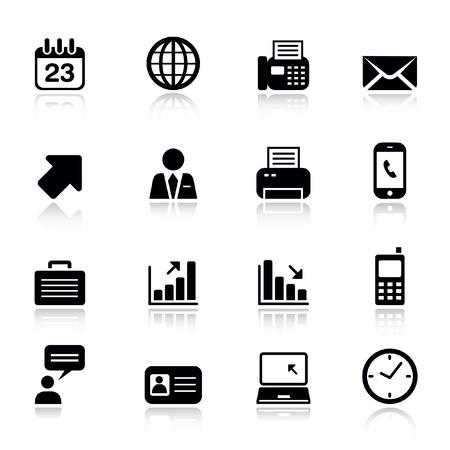 Básica - iconos de oficina y negocio Ilustración de vector