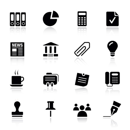 signature: Basic - Office and Business icons Illustration