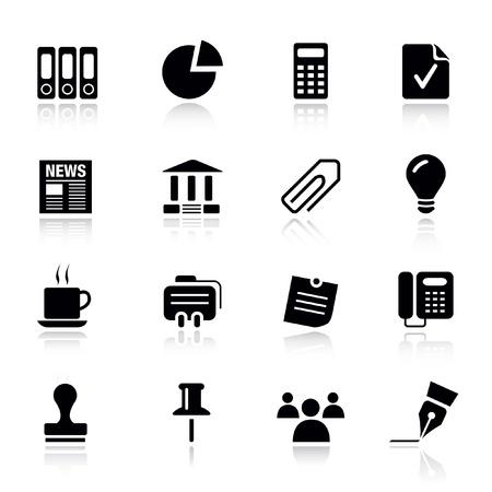 rekenmachine: Basic - Office en Business iconen Stock Illustratie