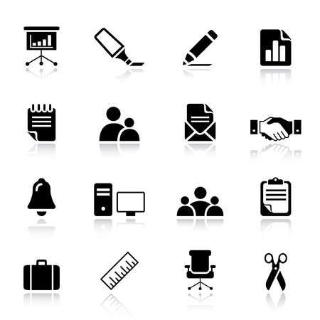 handskakning: Basic - Office and Business icons Illustration