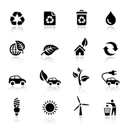 Basic - Ecological Icons Stock Vector - 9701449