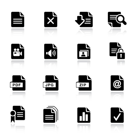 Basic -  File format icons Vector