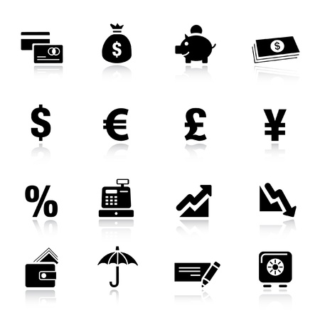 falling money: Basic -  Finance icons