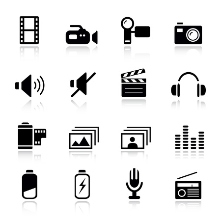 Basic - Media Icons Stock Vector - 9701445