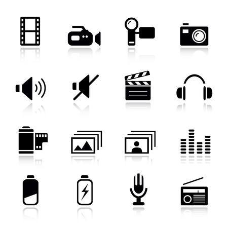 Basic - médias icônes Vecteurs