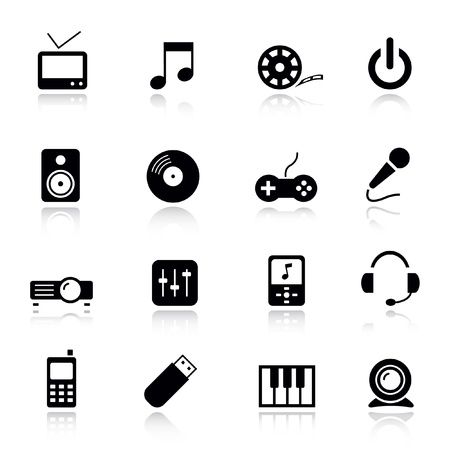 Basic - Media Icons Stock Vector - 9701435