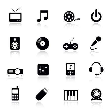 webcam: Basic - Media Icons