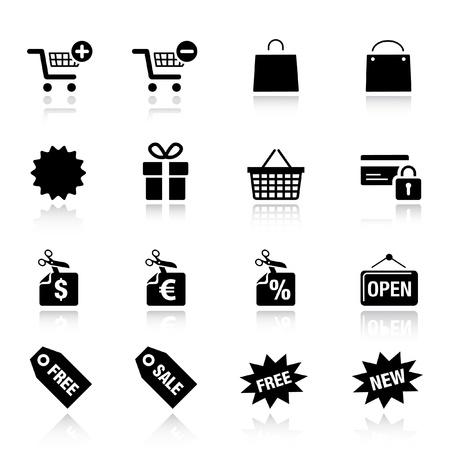基本的な - ショッピングのアイコン  イラスト・ベクター素材