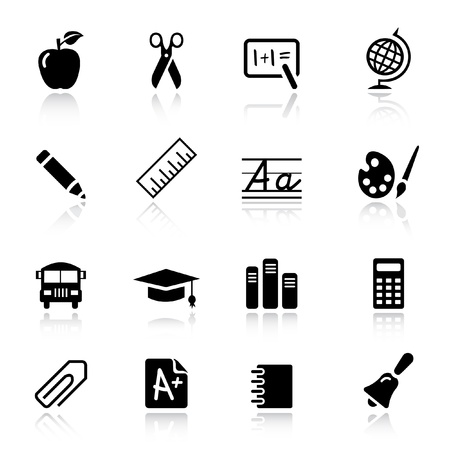school icons: Basic - School Icons Illustration