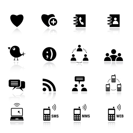Basic - Social media icons Stock Vector - 9701681