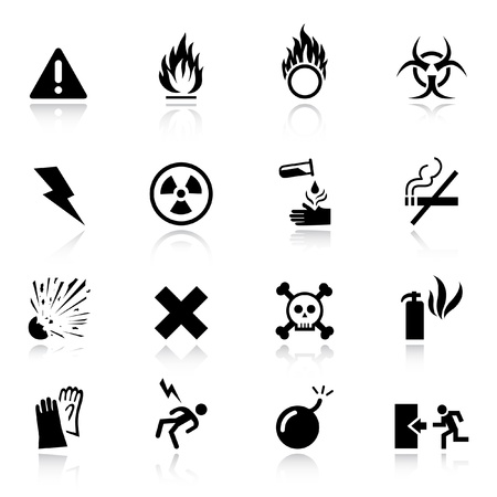 biohazard: Basic - iconos de advertencia Vectores