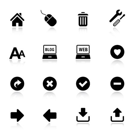 Basic - Classic Web Icons Stock Vector - 9701433