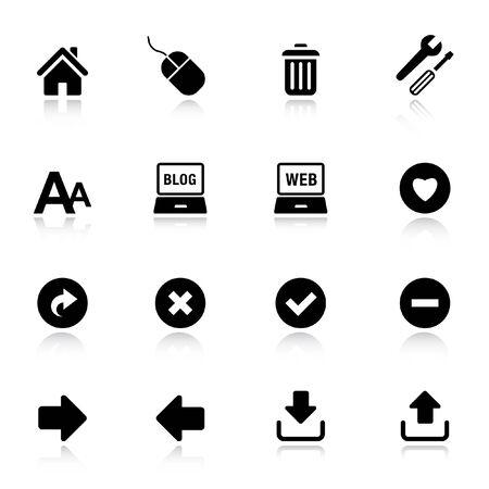 Basic - Classic Web Icons Stock Vector - 9701433