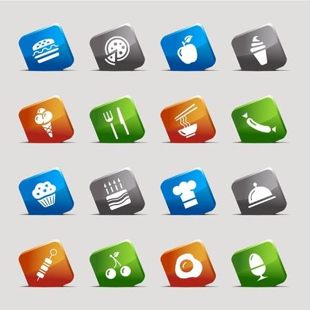 Cut Squares - Food Icons