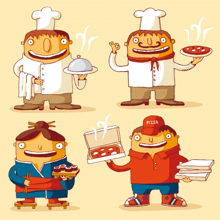 sushi: Wereldkeuken Stock Illustratie