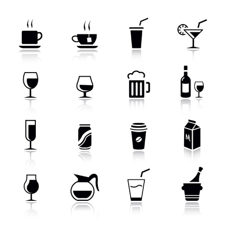basics: Basic - Drink Icons Illustration