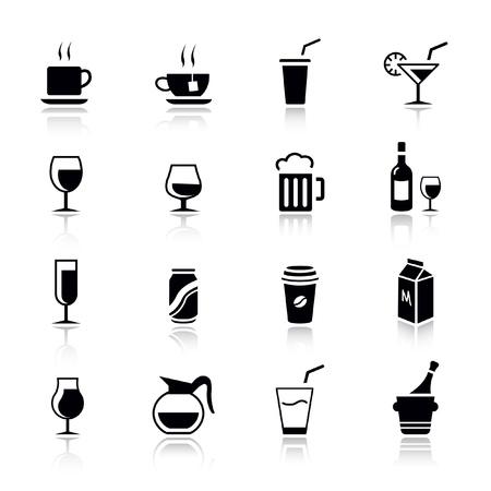 piktogram: Podstawowe - napój ikony Ilustracja