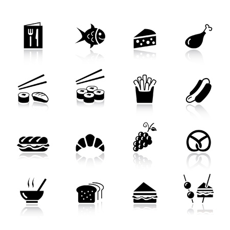 Basic - Food Icons Stock Vector - 9934684