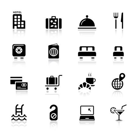 Basic - Hôtel icônes Vecteurs