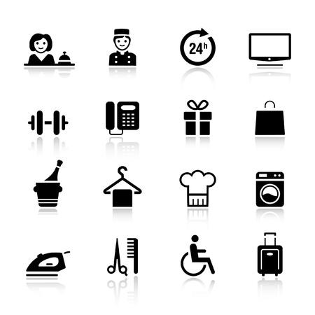 gastfreundschaft: Basic - Hotel-Ikonen Illustration