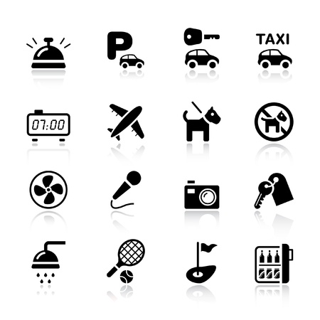 Basic - Hotel icons Stock Vector - 9934682