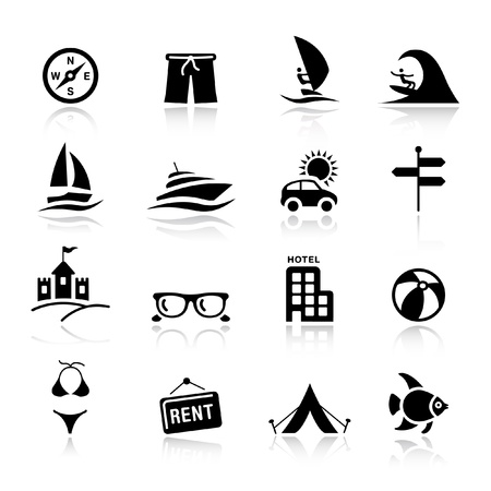 Basic - Vacation icons Vector