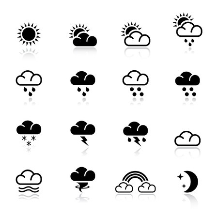 sonne mond: Basic - Wetter Illustration