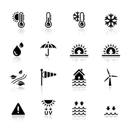 iconos del clima: Basic - clima Vectores