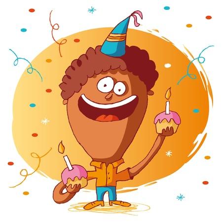 Happy birthday - cake Vector