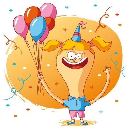 Happy birthday - ballons Vector