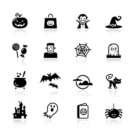 Basic - Halloween icons Vector