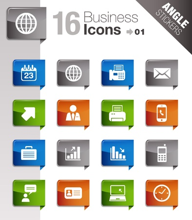 man on cell phone: Pegatinas �ngulo - Los iconos de oficinas y locales
