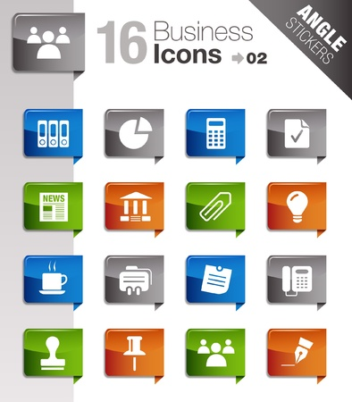 Angle Stickers - Office and Business icons