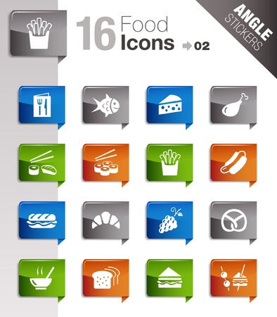 croissants: Angle Stickers - Food Icons  Illustration