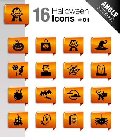 Angle Stickers - Halloween icons Vector