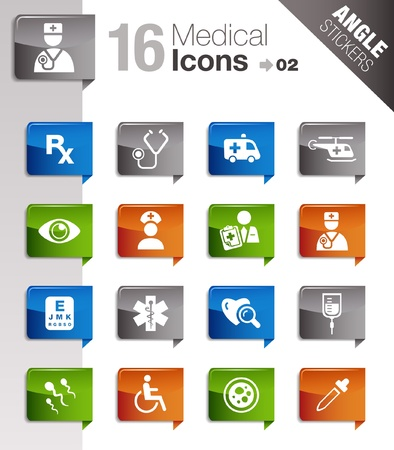 Angle Stickers - medical icons Stock Vector - 10443944