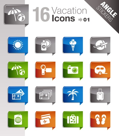Angle Stickers - Vacation icons Stock Vector - 10443955