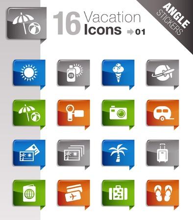 uv: �ngulo pegatinas - iconos de vacaciones