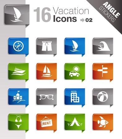 Angolo adesivi - icone di vacanza